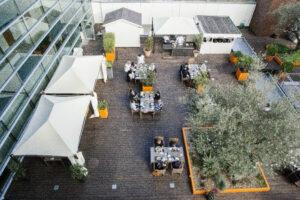 Terrasse du Hilton Hotel Genève